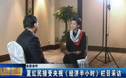 会里会外 夏红民接受央视《经济半小时》栏目采访