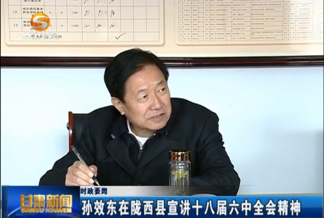 孙效东在陇西县宣讲十八届六中全会精神