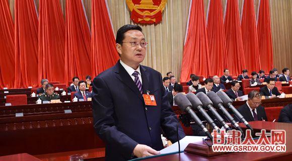 1月11日上午,省十二届人大六次会议举行第二次全体会议,罗笑虎作省人大常委会工作报告
