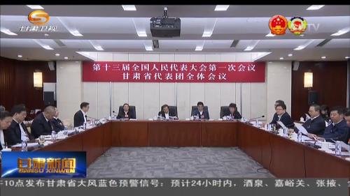 十三届全国人大一次会议甘肃代表团举行全团会议
