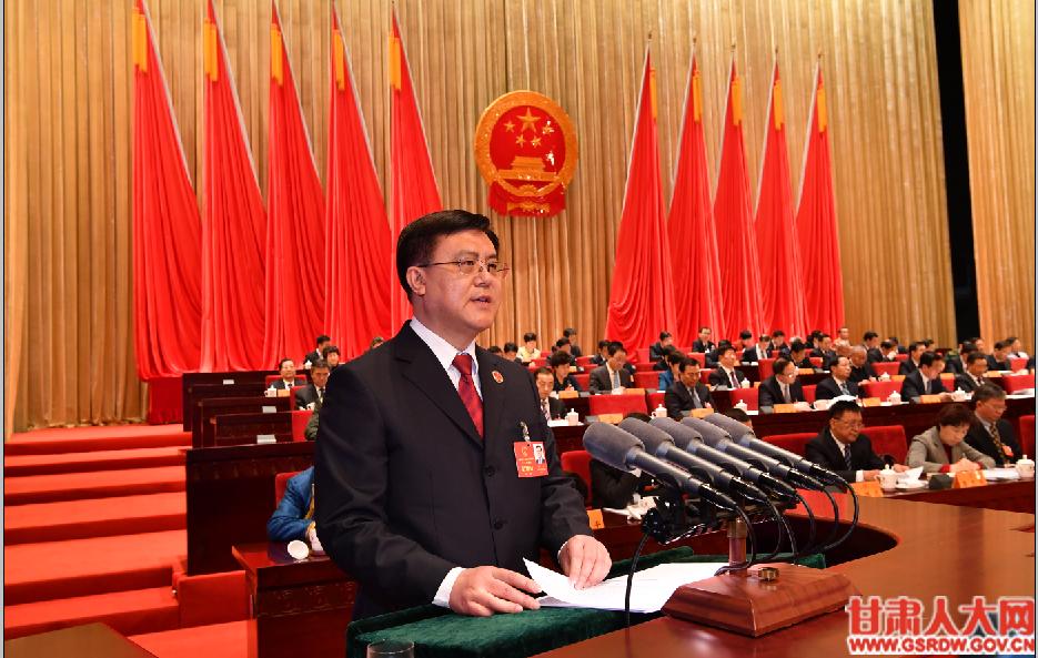 1月28日上午,朱玉作甘肃省人民检察院工作报告