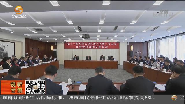 甘肃代表团审议各项决议草案等 杨晓渡林铎唐仁健参加审议