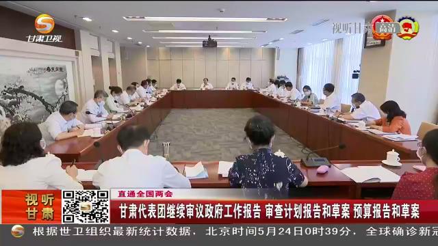 甘肃代表团继续审议政府工作报告 审查计划报告和草案 预算报告和草案